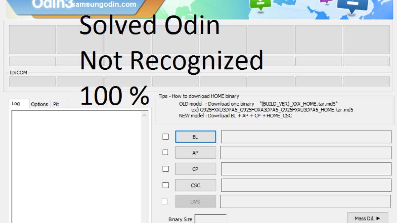 Odin Does Not Recognized Solution 100% Working | The TechRim