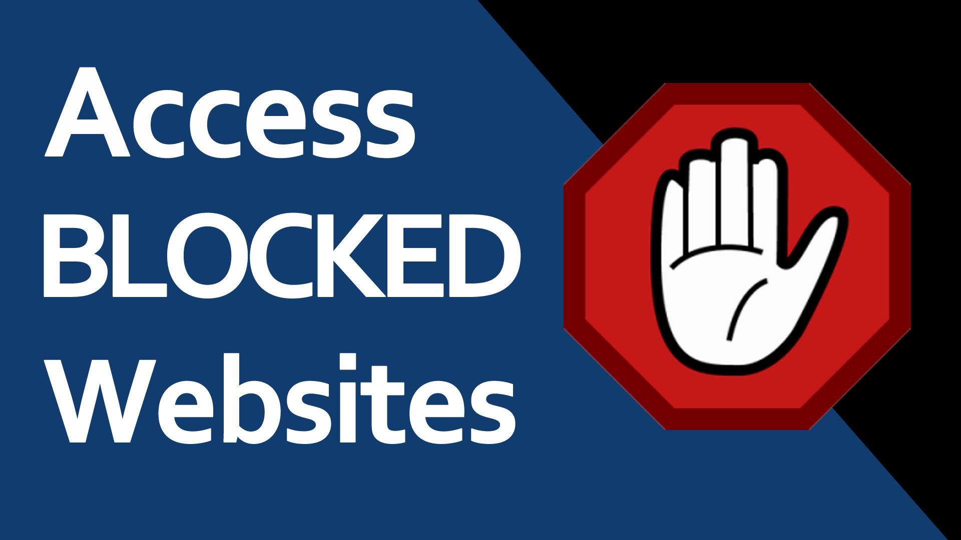 how to open blocked site