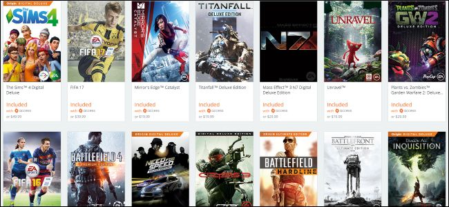 Origin Games for Free