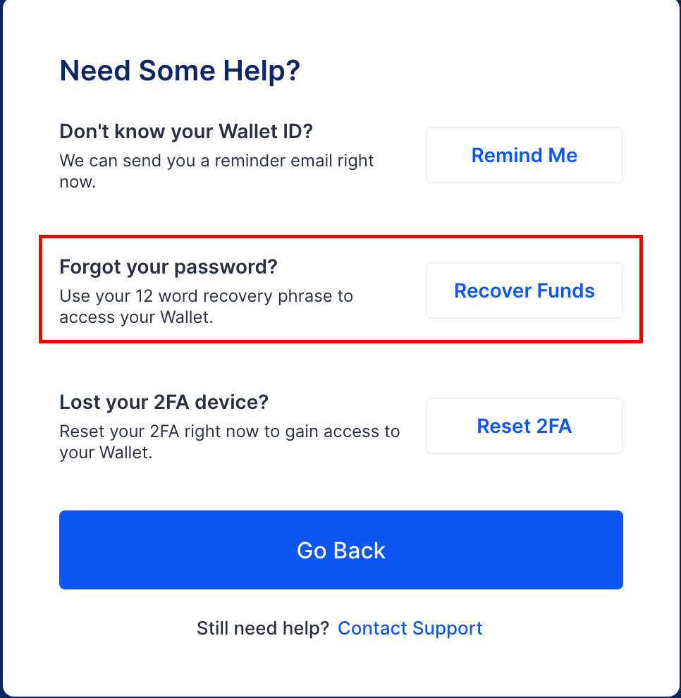 Log into Blockchain wallet without Password