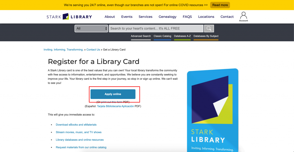 How to get Get Library Card