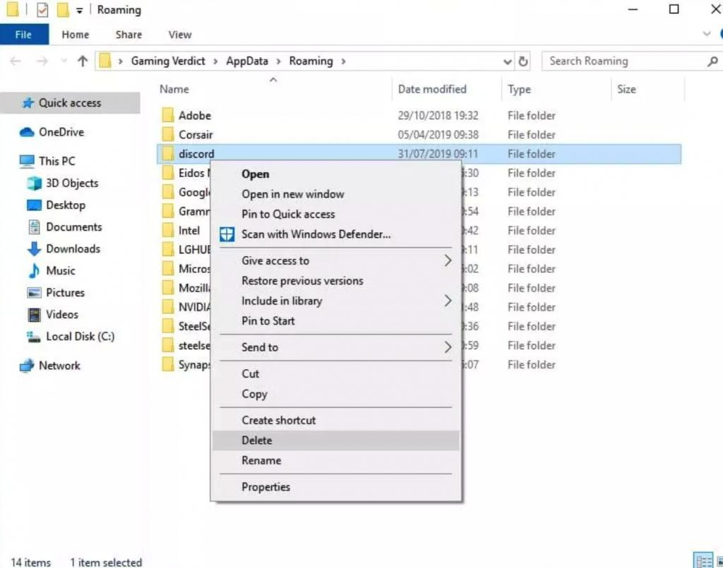 Discord JavaScript Error - Delete Discord