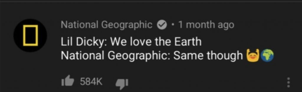 Most liked youtube comment NatGeo