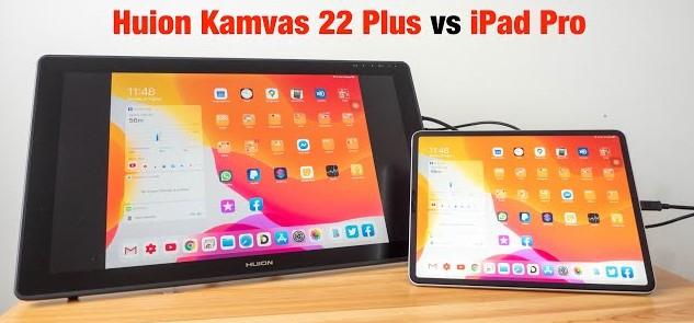 Apple iPad Pro 12.9 (2020) vs Huion Kamvas 22 Plus - the Ultimate Face-Off