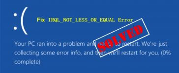 IRQL_NOT_LESS_OR_EQUAL